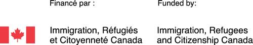 Projet financé par : Immigration, Réfugiés et Citoyenneté Canada