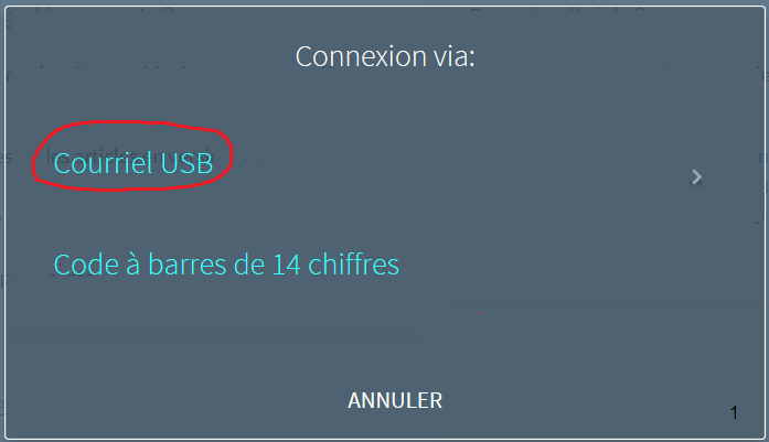 Courriel USB
