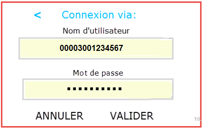 Code à barres de 14 chiffres et mot de passe