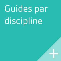 Guides par discipline.