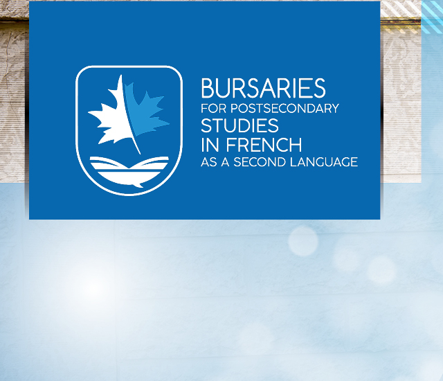 Bourses d'études postsecondaires en français langue seconde.