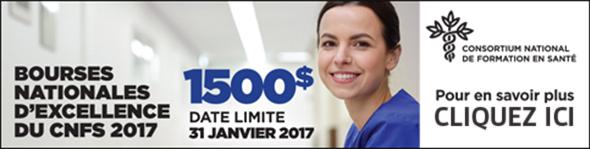 Bourses d'excellence du CNFS de 1500 $