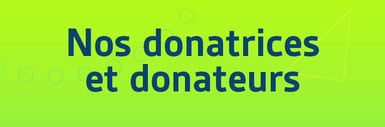 Nos donateurs