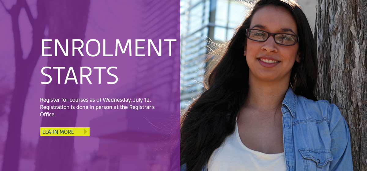 Highlights: Register for courses as of July 12.