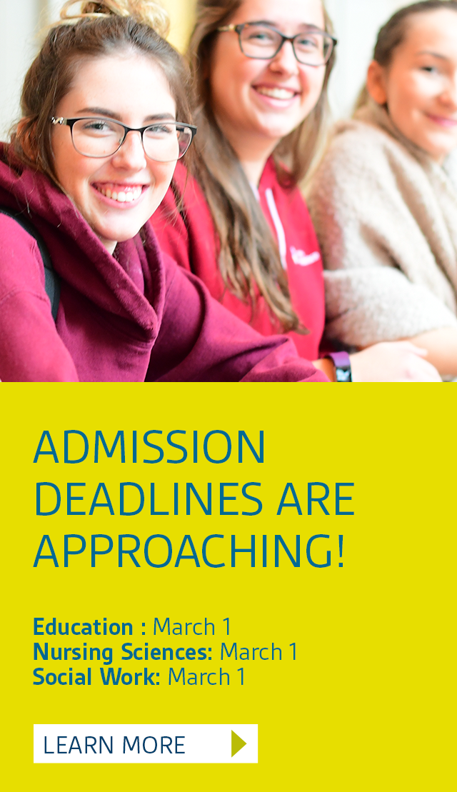 Highlight: Admission deadlines are approaching!