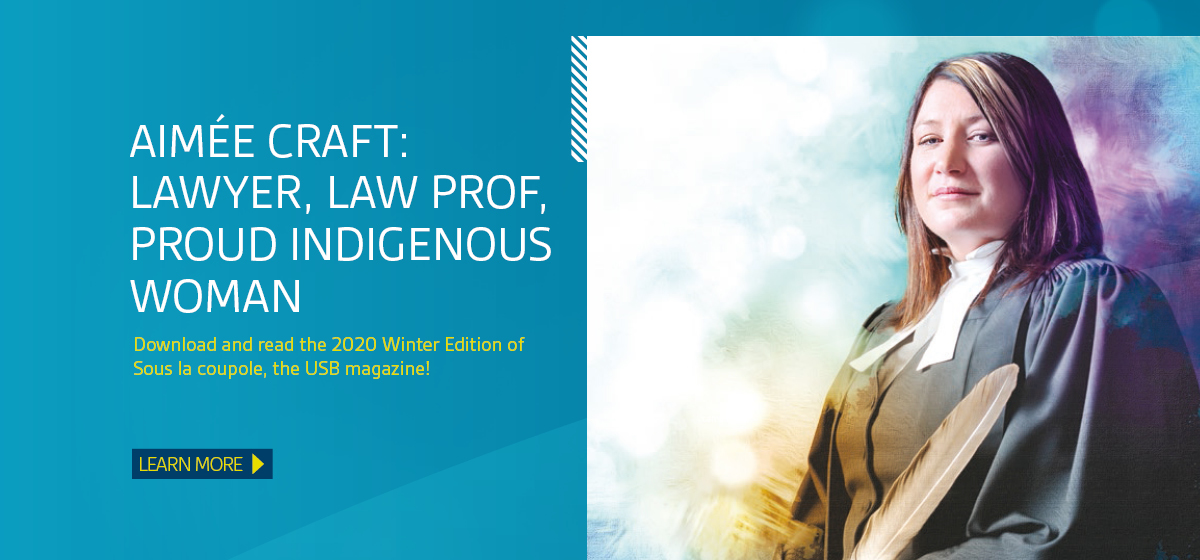Aimée Craft: lawyer, law professor and proud Indigenous woman. Learn more in the Sous la coupole Winter 2020 edition.