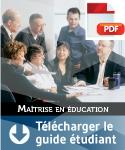 Guide étudiant - maîtrise en éducation