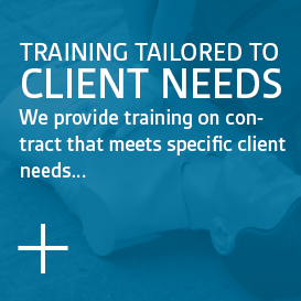 Training Tailored to Client Needs - We provide training on contract that responds to...
