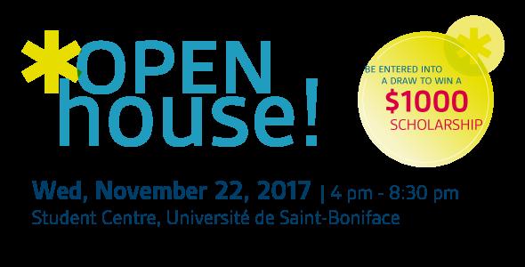 Open House! Wednesday, November 22, 2017.