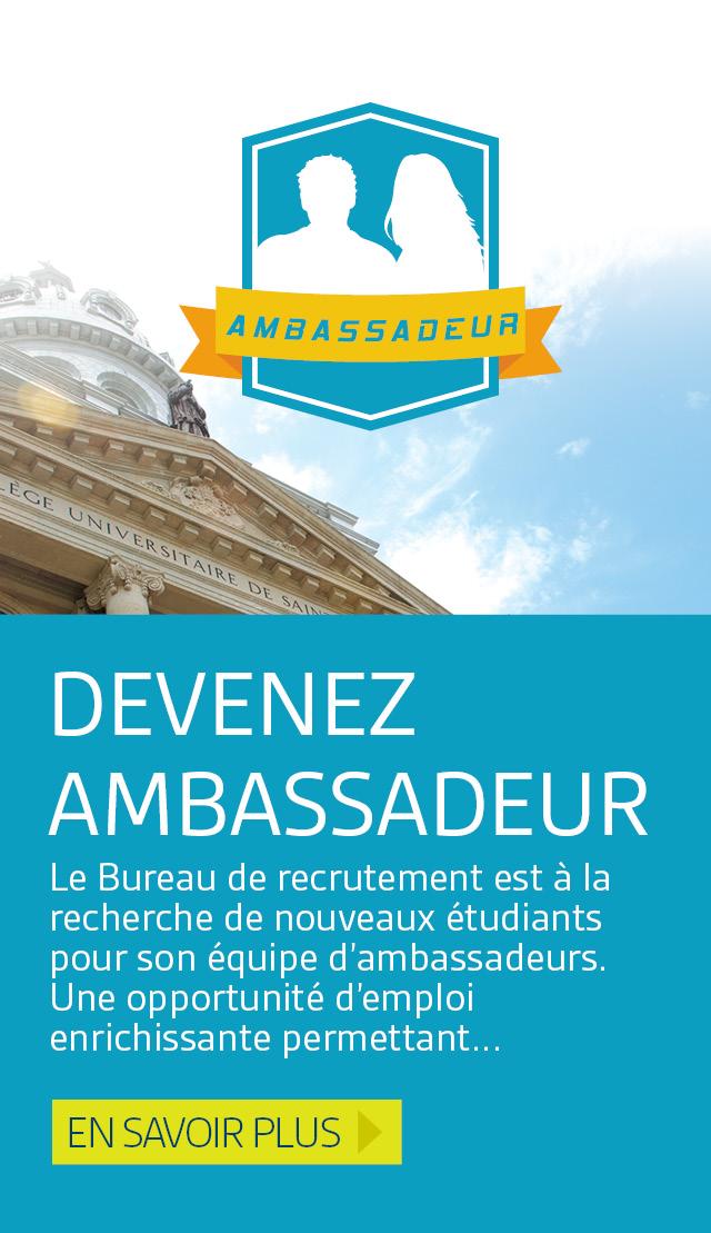 Devenez ambassadeur