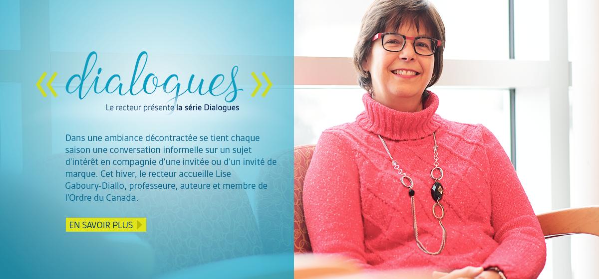 En vedette : Dialogues avec Lise Gaboury-Diallo