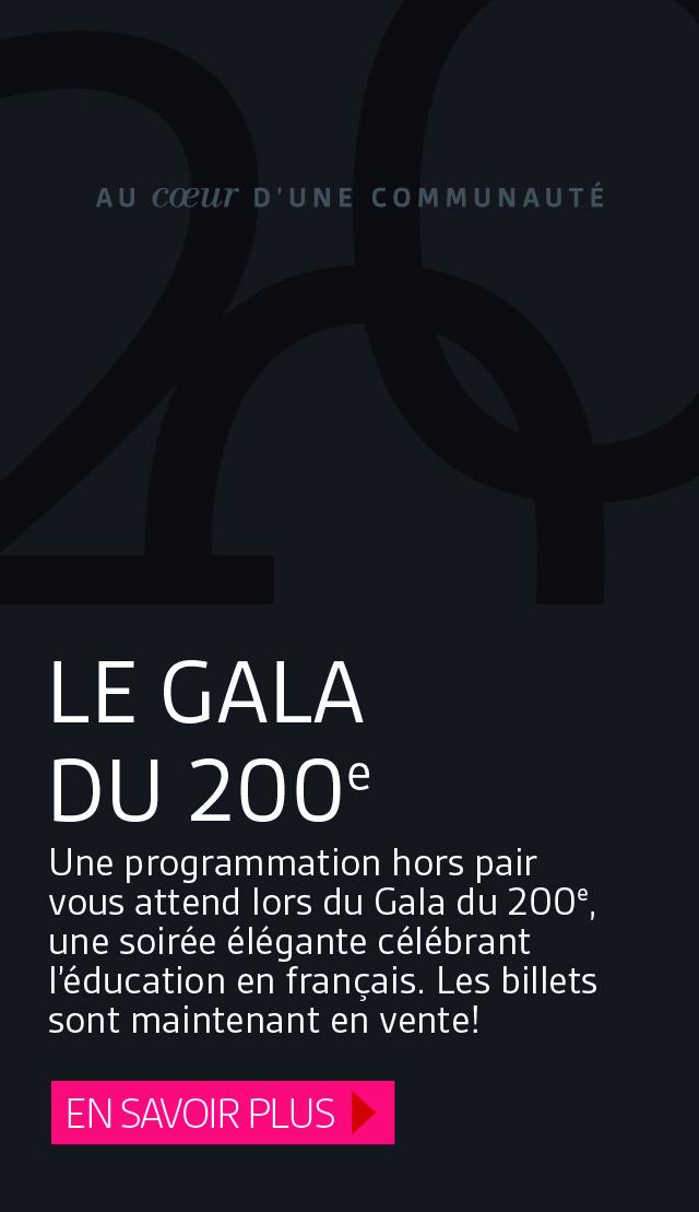 Le Gala du 200e