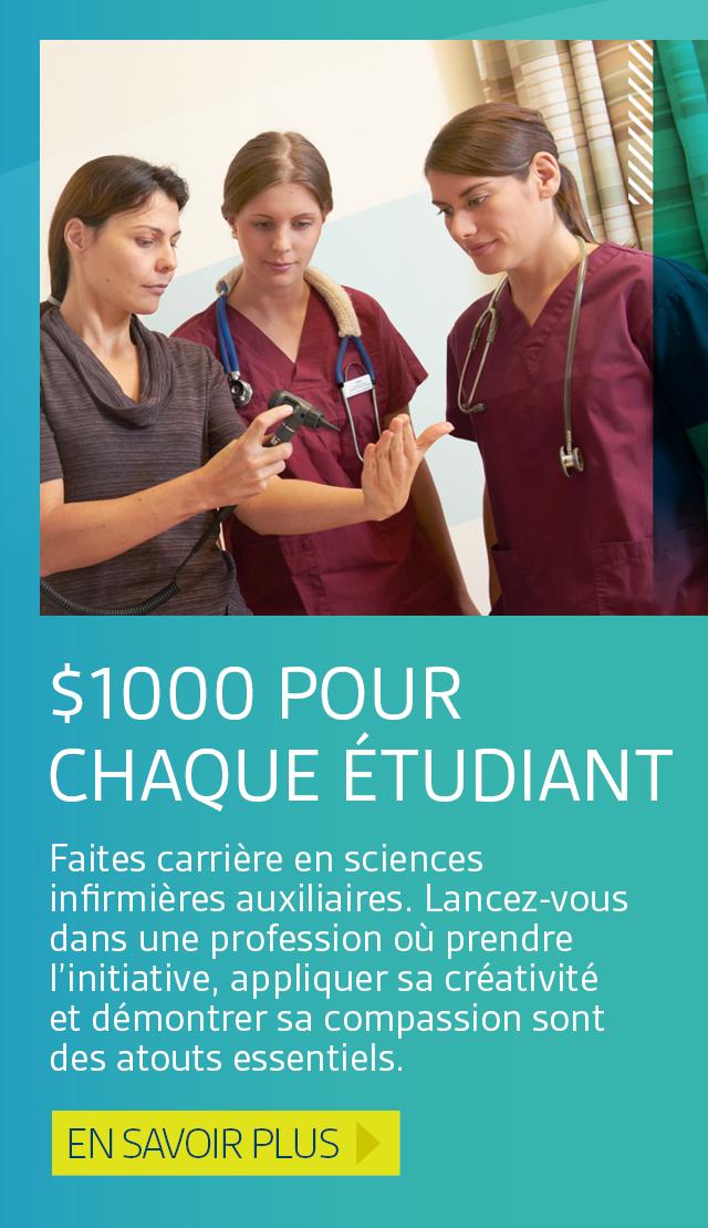 1000$ pour chaque étudiant