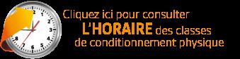 Sportex - Consultez l'horaire des classes de conditionnement physique