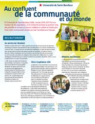 Rapport annuel : Au confluent de la communauté et du monde