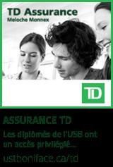 Assurance TD pour les membres du Réseau des diplômés - ustboniface.ca/td