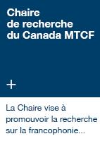 Chaire de recherche du Canada MTCF