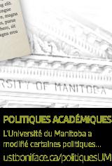 L'Université du Manitoba a modifié certaines politiques...