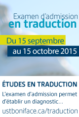 Examen d'admission en traduction