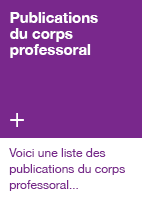 Publications du corps professoral