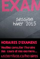 Examens - hiver 2015