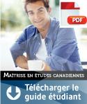 Guide étudiant - maîtrise en études canadiennes