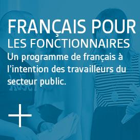 Programme de français pour les fonctionnaires