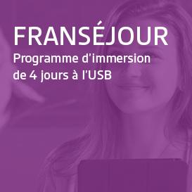 Franséjour - Programme d'immersion à l'USB