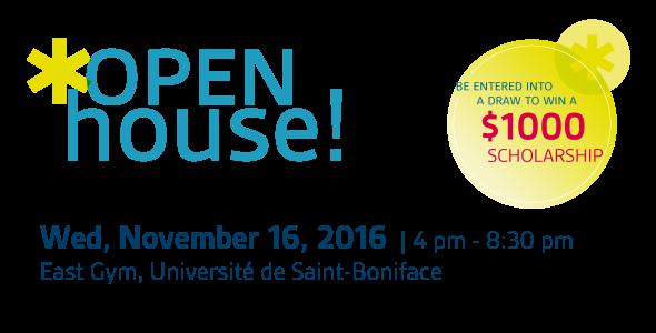 Open House! Wednesday, November 16, 2016.