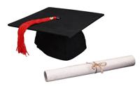 mortier et diplôme