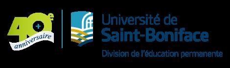 Logo 40e de la Division de l'éducation permanente