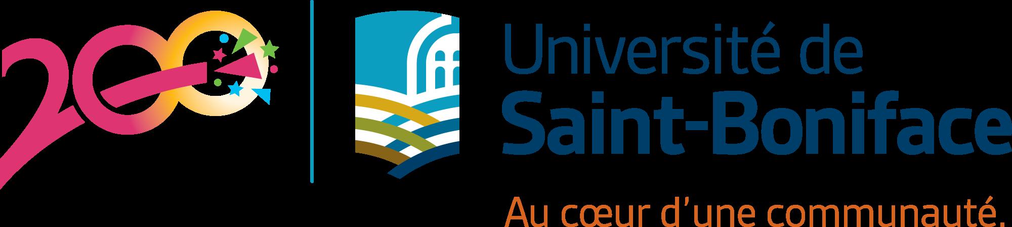 Logo du 200e de l'Université de Saint-Boniface - Au coeur d'une communauté.