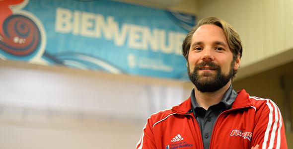 Éric Lemoine, directeur adjoint des activités sportives et récréatives à l'USB