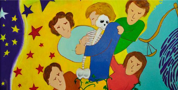 Extrait d'une murale en Argentine