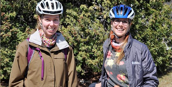 Julie Gauvin et Janelle Delorme de la Coop Vélo-Cité
