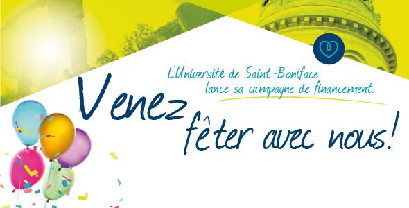 L'Université de Saint-Boniface lance sa campagne annuelle. Venez fêter avec nous!