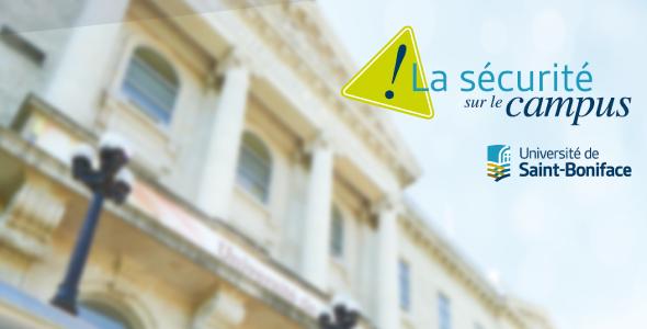 La sécurité sur le campus de l'Université de Saint-Boniface