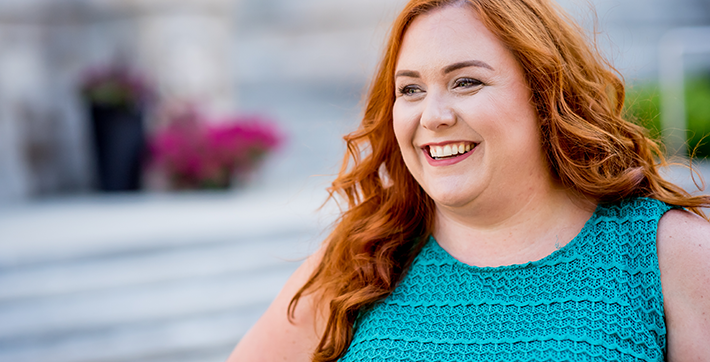 Keleigh James, diplômée de l'USB et présidente de la campagne de financement 2017-2018