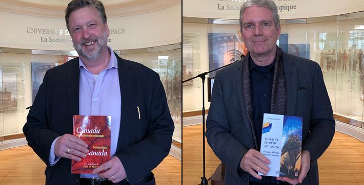 Les professeurs Paul Morris et Denis Gagnon.