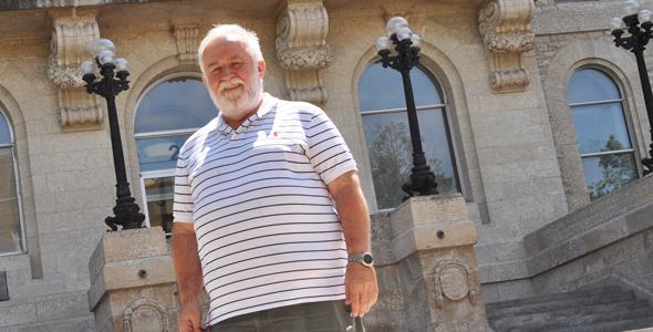 André Fauchon, professeur de géographie à l'USB de 1976 à 2016