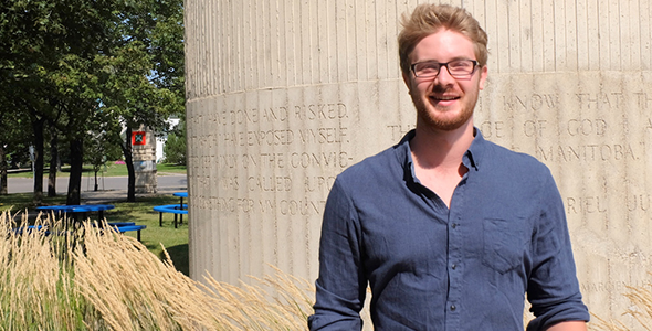 Liam Chatel, récipiendaire de la bourse de mobilité étudiante de l'ACUFC