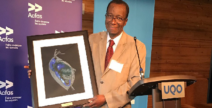 Ibrahima Diallo, professeur à l'USB et nouveau membre émérite de l'Acfas.