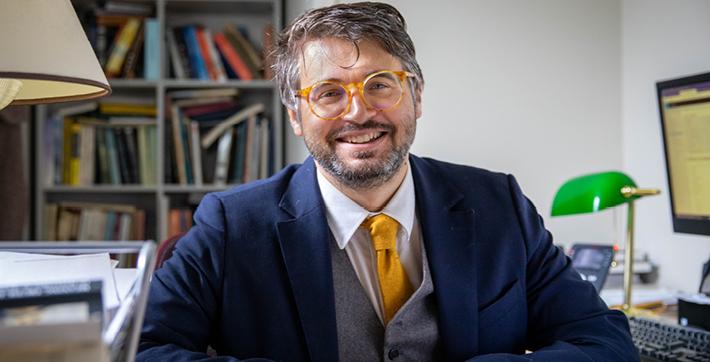 Patrick Noël, professeur d'histoire à l'Université de Saint-Boniface.