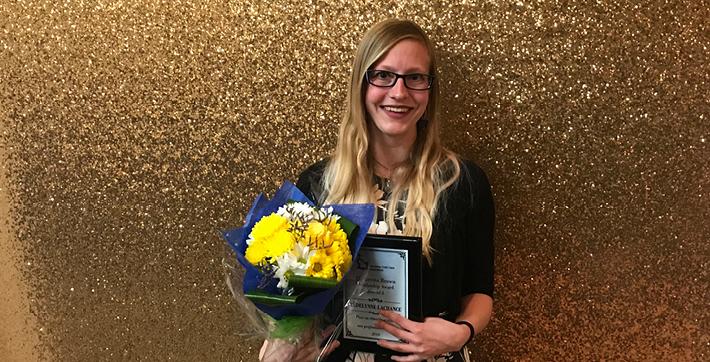 Cédelynne Lachance, récipiendaire du prix Gretta-Brown.