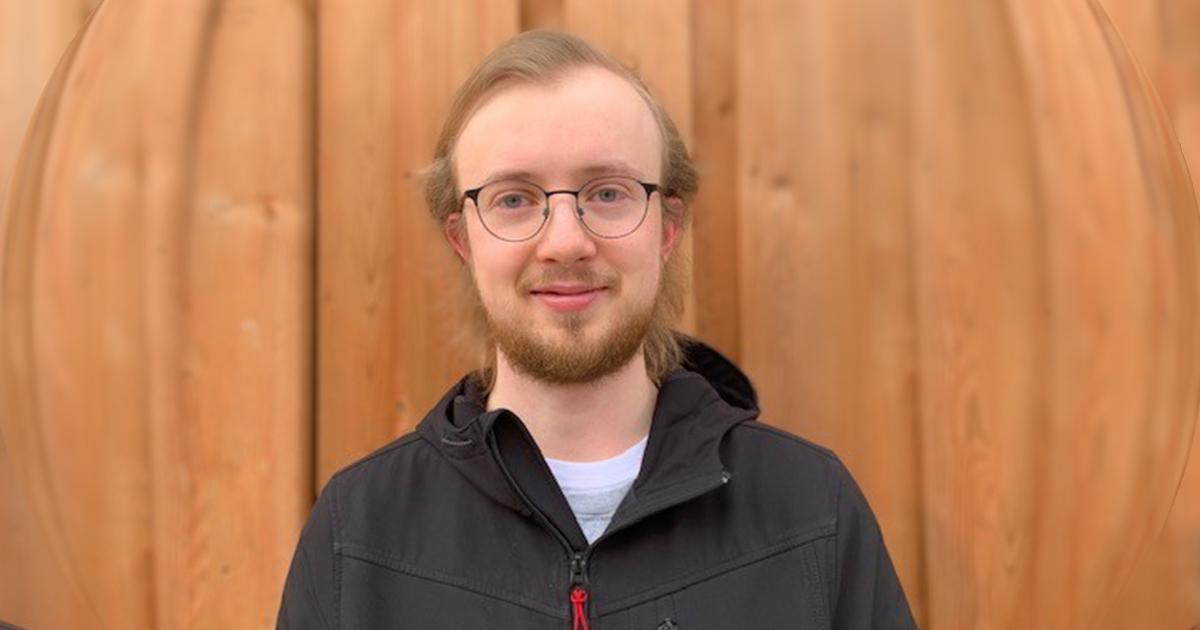 Tyler Lussier, récipiendaire du prix Undergrad Research de l'Université du Manitoba.