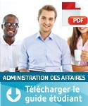 Guide étudiant – Administration des affaires