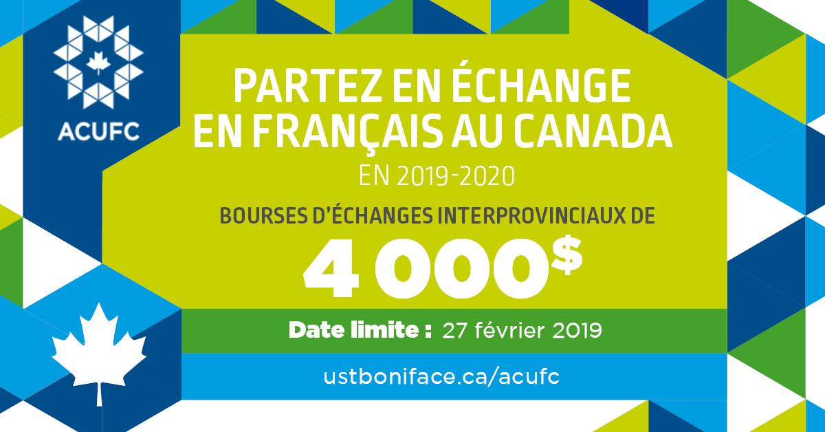 Partez en échange en français au Canada en 2019-2020