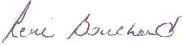 Signature René Bouchard
