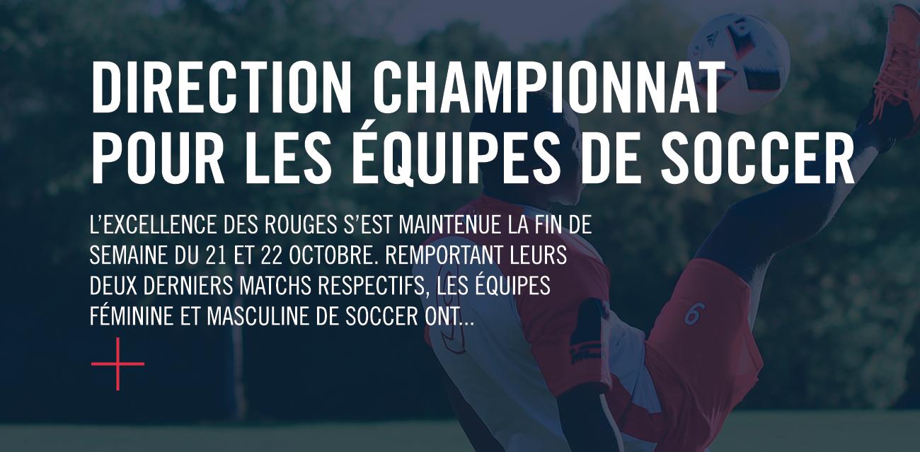 Titre de nouvelle : Direction championnat pour les équipes des Rouges