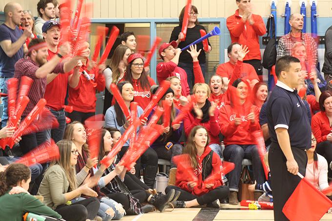 Partisans des Rouges lors des éliminatoires de volleyball (25-26 février 2017)